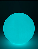 LED glow ball with color changing settings