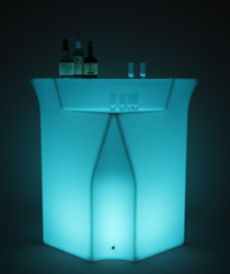 illuminated modular LED corner bar