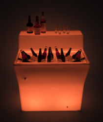 modular LED bar counter