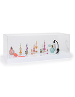 Lighted acrylic display case with 16-color LED base