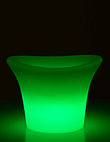 LED Ice Bucket Can Flash, Strobe or Fade