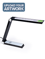 Custom task lamp charger with sleek black finish