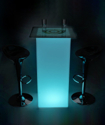 branded led highboy table set