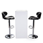 LED tall boy bar table set counter height