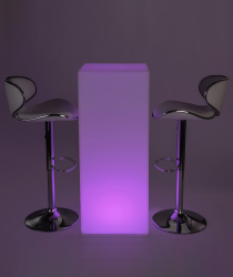 LED tall boy bar table set