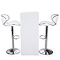 LED tall boy table set with rechargeable battery
