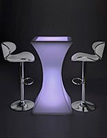 LED glowing cocktail table set with rechargeable battery