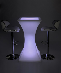 led glowing cocktail table set