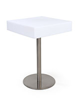 Square glow top bar table with 16 color options