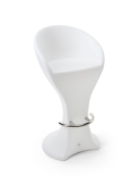 white LED bar stool with 30-inch seat height