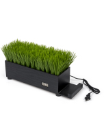 16-inch long black grass desktop charging station