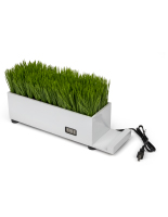 white plastic grass decorative charging planter