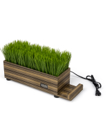 16-inch long zebra wood potted grass device charger