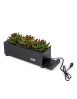 16-inch long black succulents charging station planter