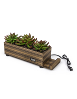 zebra wood plastic succulents decorative charging planter