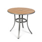 32 inch round restaurant patio faux teak table
