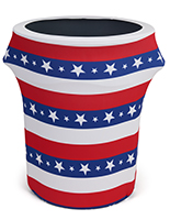 55 gallon American flag trash can stretch wrap
