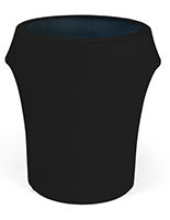 Spandex trash can covers with solid black color