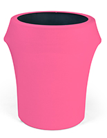 Spandex trash can covers with vibrant pink color