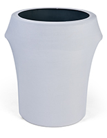 Spandex trash can covers with solid white color