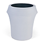 Spandex Trash Can Covers with 14 color variations