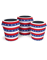 American flag trash can stretch wrap with contour fit