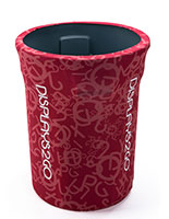 Printed 32-Gal Trash Barrel Cover with 100% Customizable Design