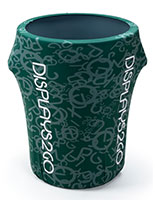 Custom 44-Gal Trash Bin Cover with Spandex Material