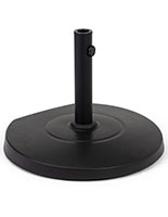Patio umbrella base with 55 pound weight