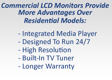 Five reasons to go with commercial LCD monitors.
