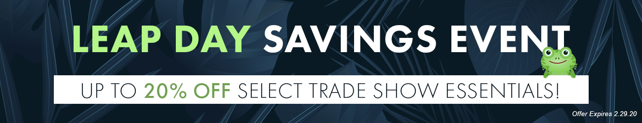 Save up to 20% on Select Trade Show Fixtures!