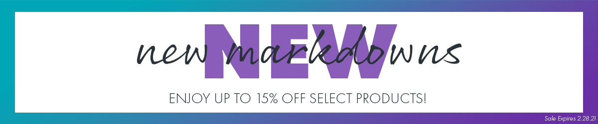 Save up to 15% on Select  New Markdowns!
