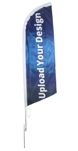 Polyester 10-ft Custom Blade Flag