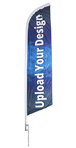 Swooping 14-ft Custom Advertising Feather Flag