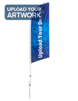 Promotional 8-ft Custom Printed Flutter Flag