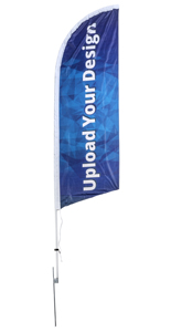 Outdoor 8-ft Custom Printed Flutter Flag