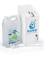 Acrylic hand sanitizer station with gallon pumps