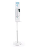 Aluminum hand sanitizing dispenser floor stand