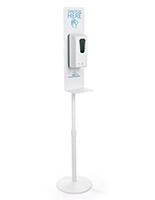 Aluminum hand sanitizing dispenser floor stand