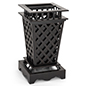 Open top outdoor garbage can with 10 gallon capacity