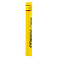 Custom removable pipe bollard sleeves in yellow with 52 inch height