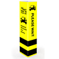 Safe distance bollard cover with yellow and black print