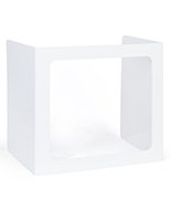 Student desk sneeze guard with trifold design