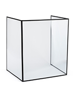 3-panel desktop hygiene barrier with leatherette frame