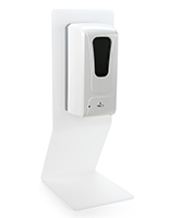 Countertop touchless hand sanitizer dispenser with built in drip tray