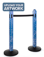 Custom printed stanchion cover with full color printing