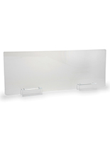 Cubicle sneeze guard with 17.5 inch height
