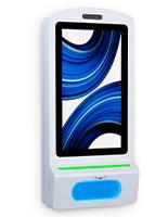 Automatic digital sanitizer dispenser with LED indicators