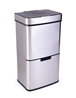 Floor standing stainless steel touchless garbage can