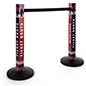 Custom printed stanchion post sleeve with easy assembly